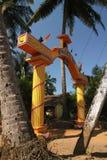 Porta amarela, templo do hinduism em Goa Fotografia de Stock