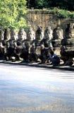 Porta Angkor Thom da vitória, Cambodia Fotografia de Stock