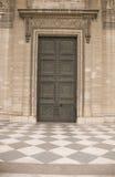 Porta antic clássica - fechada foto de stock