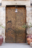 Porta antica del cipper Fotografie Stock