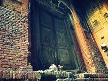 Porta antica nel Pakistan Immagini Stock