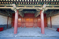 Porta antiga chinesa Imagem de Stock Royalty Free