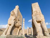 Porta antiga de Persepolis, Irã Fotografia de Stock