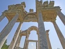Porta antiga do tetrapylon nos Aphrodisias Imagem de Stock Royalty Free