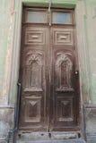 Porta antiga em Havana, Cuba Fotografia de Stock