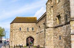 Porta antiga em Southampton - Hampshire Fotografia de Stock