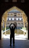 Porta antiga no palácio de Alhambra em Spain Fotos de Stock