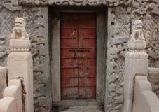 Porta antiga no palácio imperial, Pequim, China Fotografia de Stock Royalty Free