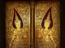 Porta antiga tailandesa dourada Fotografia de Stock Royalty Free
