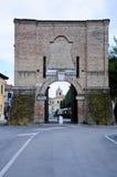 Porta antigo Lambertina situado na cidade do senigallia Fotografia de Stock Royalty Free