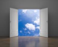 Porta ao céu ilustração royalty free