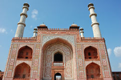 Porta ao túmulo de Akbar Fotografia de Stock