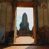 Porta ao templo de Ayudhya Fotos de Stock Royalty Free