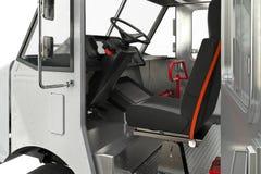 Porta aperta della cabina di Van car, vista vicina Fotografie Stock