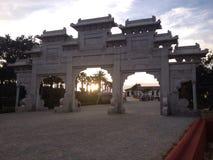 Porta asiatica Fotografie Stock