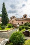 Porta Asinaria y guardia Towers en las paredes de Roma Fotografía de archivo