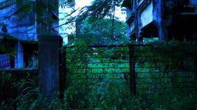 Porta assombrada da casa Fotos de Stock