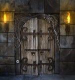 Porta assustador Fotografia de Stock
