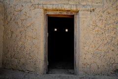Porta assustador em Al Qattara Oasis imagem de stock royalty free