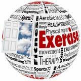 Porta attiva di stile di vita di idoneità fisica di esercizio all'opportunità royalty illustrazione gratis