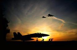 Porta-aviões Foto de Stock