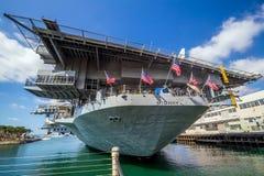 Porta-aviões intermediário de USS fotos de stock royalty free
