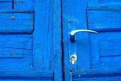 Porta azul Fotografia de Stock Royalty Free
