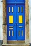 Porta azul Imagens de Stock