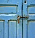 Porta azul Imagem de Stock