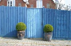 A porta azul fotos de stock