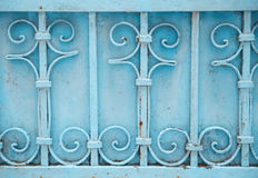 Porta azul do ferro Imagem de Stock
