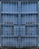 Porta azul do metal Fotos de Stock