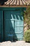 Porta azul mediterrânea Imagens de Stock
