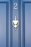 Porta azul - número 2 fotos de stock royalty free