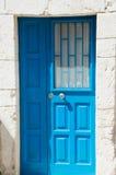 Porta azzurrata Fotografia Stock Libera da Diritti