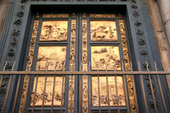 Porta Battistero #2. Closeup view of famous door of Baptistery in Florence, Italy Royalty Free Stock Photography