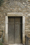 Porta bizantina do monastério Foto de Stock