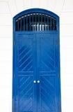 Porta blu Immagini Stock Libere da Diritti