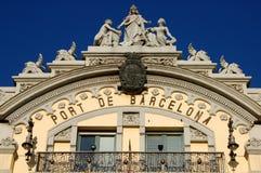 A porta bonita de Barcelona Fotografia de Stock