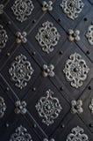 Porta bonita de uma igreja em Praga Fotos de Stock Royalty Free