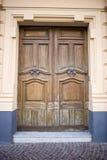 Porta bonita do vintage, de madeira velho, antiguidades Fotografia de Stock