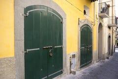 Porta bonita do vintage, de madeira velho, antiguidades Fotografia de Stock Royalty Free