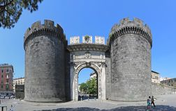 Porta Capuana Napoli. NAPLES, ITALY - JUNE 22, 2014: Porta Capuana Gate Landmark in Napoli, Italy Royalty Free Stock Photos