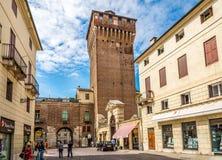Porta Castello Tower in Vicenza Stock Photo