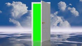 Porta celestial em um oceano do espelho ilustração stock