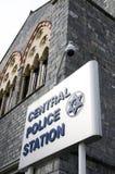 Porta central da estação de polícia - de - spain trinidad Imagem de Stock Royalty Free