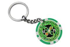 Porta-chaves da microplaqueta de pôquer Fotografia de Stock Royalty Free