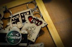 Porta-chaves para o dia do ` s do Valentim imagens de stock royalty free