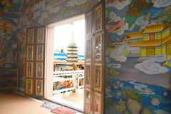 Porta chinesa fotografia de stock royalty free