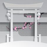 Porta chinesa Fotografia de Stock